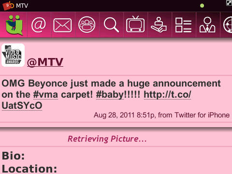 The @MTV tweet