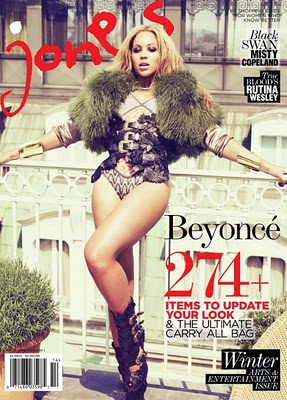 Beyoncé covers Jones Magazine Winter 2011/2012 edition