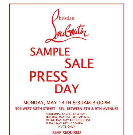 The Christian Louboutin 2012 Sample Sale! | Divaboostylesnyc