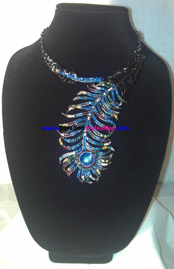Blue Fishtail Necklace1